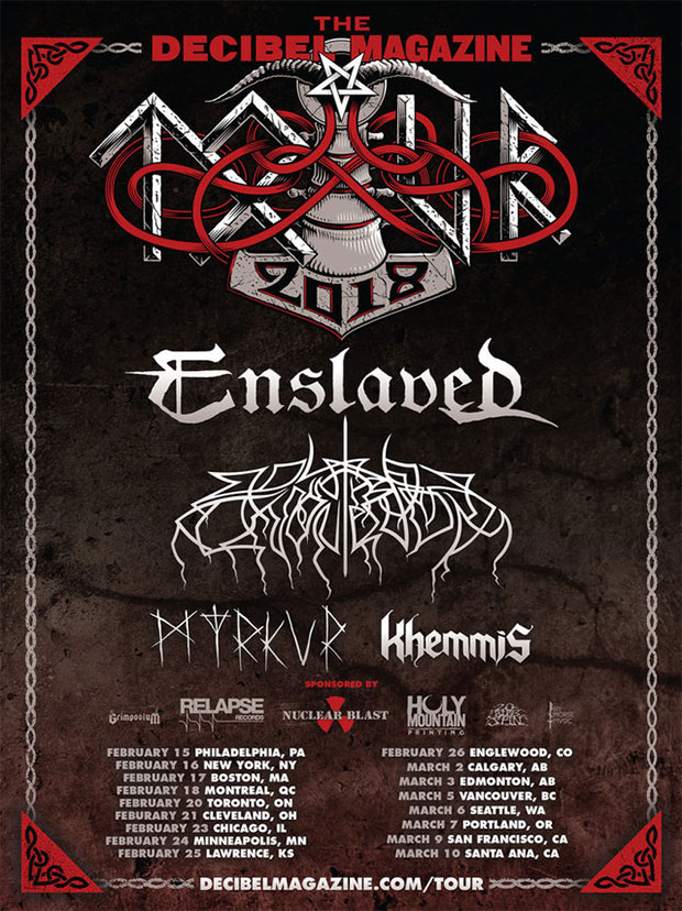 ENSLAVED, WOLVES IN THE THRONE ROOM, MYRKUR, KHEMMIS - Decibel Magazine 2018 US Tour