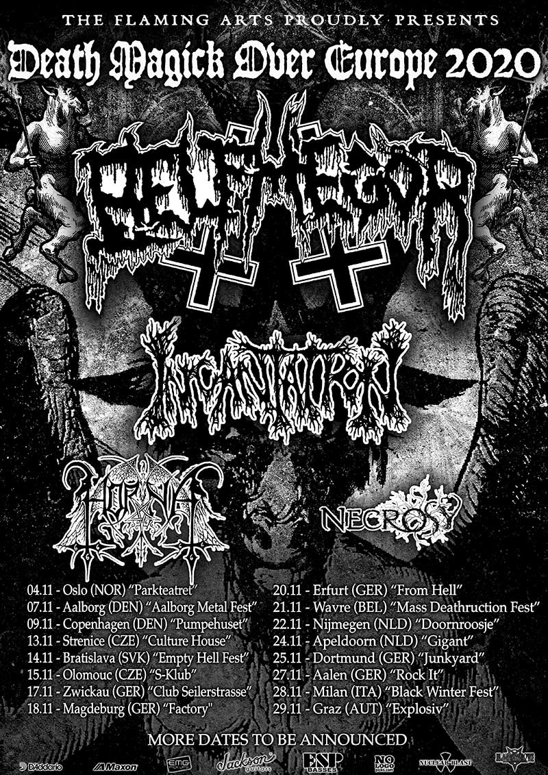 BELPHEGOR, INCANTATION, HORNA, NECROSY - Death Magick Over Europe 2020